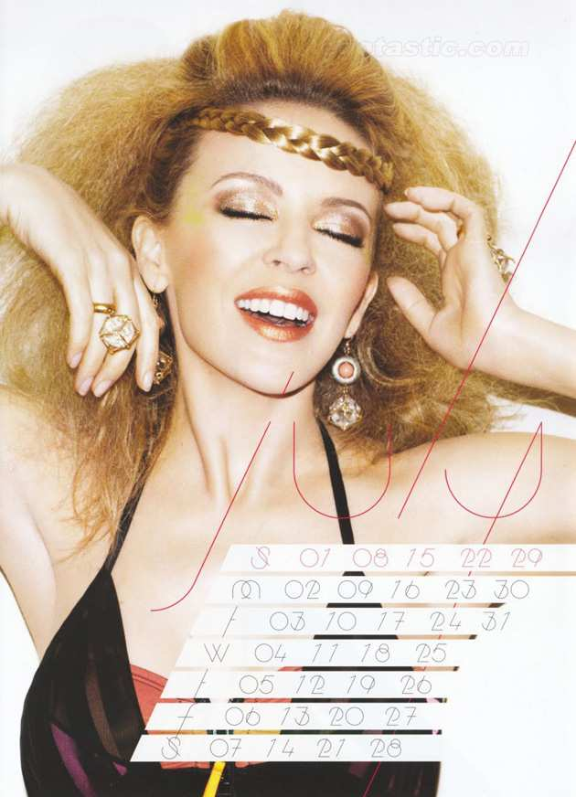 KYLIE MINOGUE CALENDARIO 2012