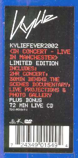 KYLIE MINOGUE FEVER 2002 ESPECIAL